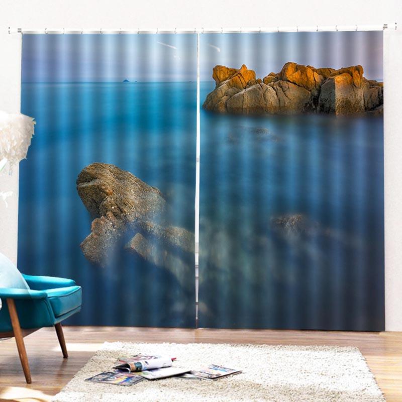 Beddinginn Curtain Sea Modern Blackout Curtains/Window Screens