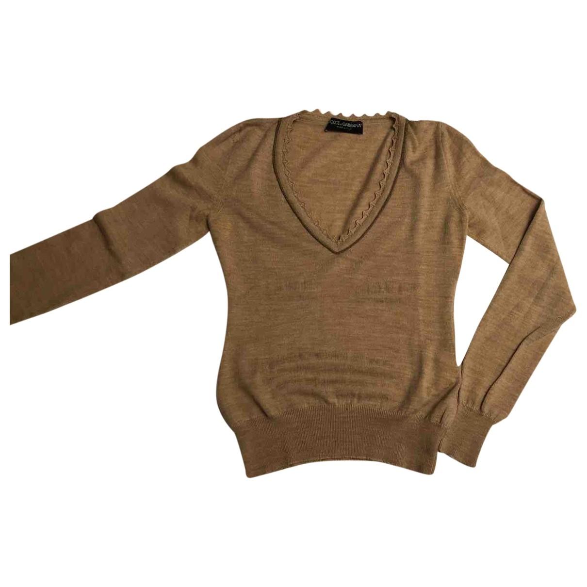 Dolce & Gabbana \N Beige Wool Knitwear for Women 42 IT