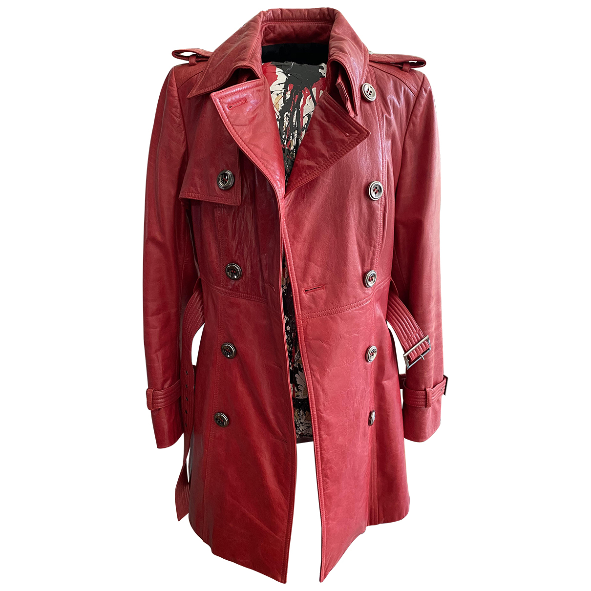 Fratelli Rossetti \N Trench in  Rot Leder