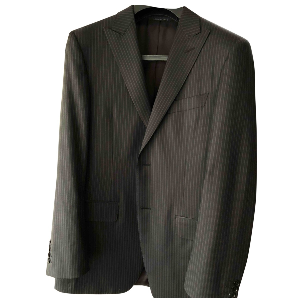 Canali \N Black Wool Suits for Men 48 IT