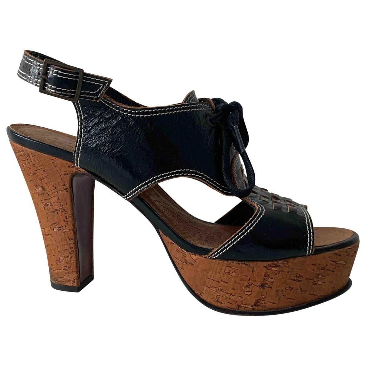 Chie Mihara \N Sandalen in  Schwarz Leder