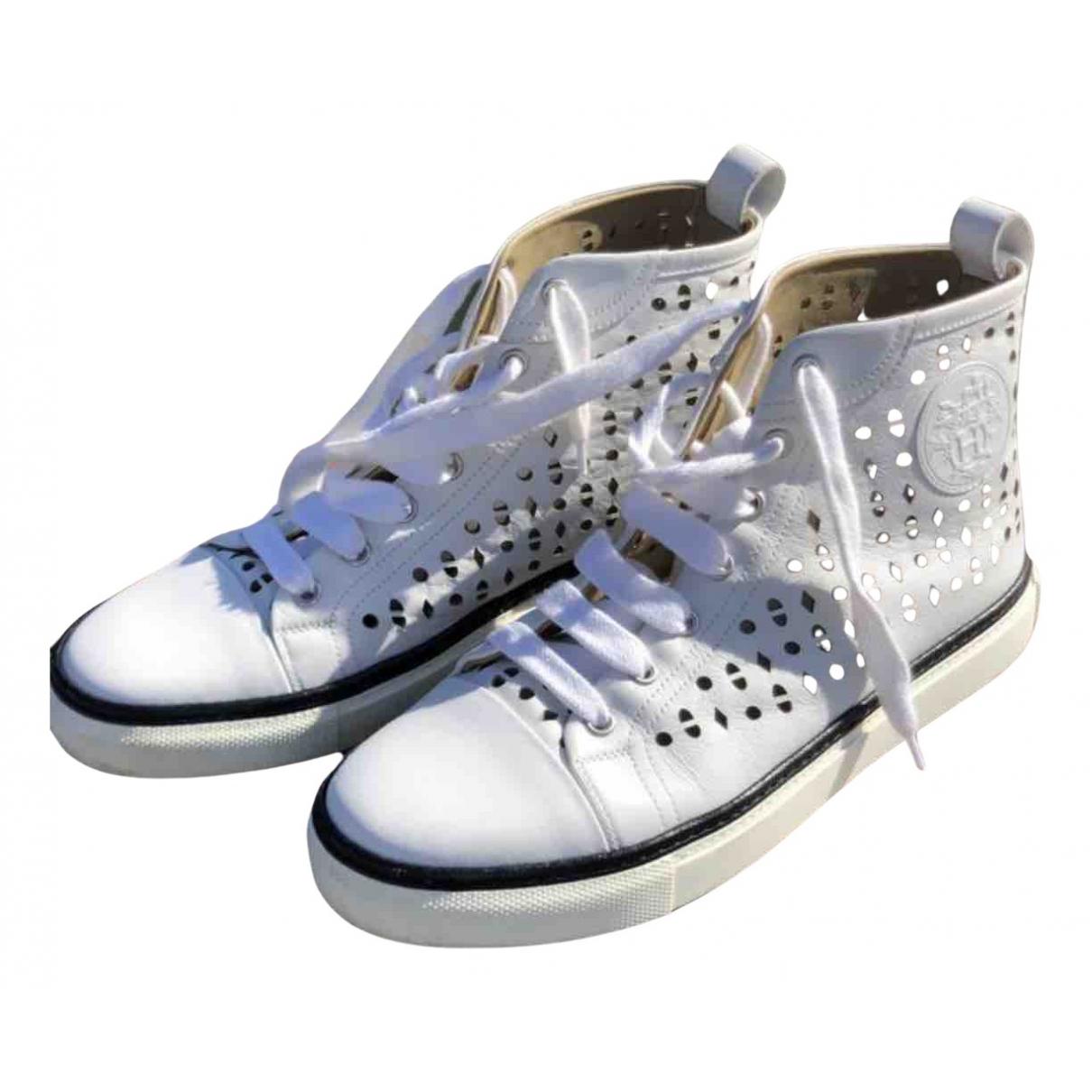 Hermes \N Sneakers in  Weiss Leder