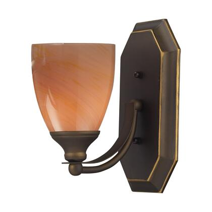 570-1B-SY 1 Light Vanity in Aged Bronze and Sandy