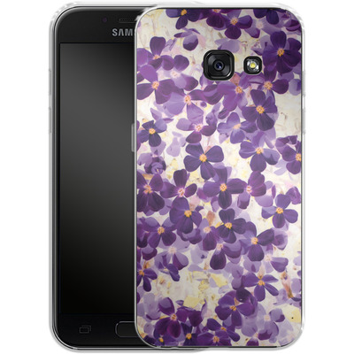 Samsung Galaxy A3 (2017) Silikon Handyhuelle - Violet Bloom von Amy Sia