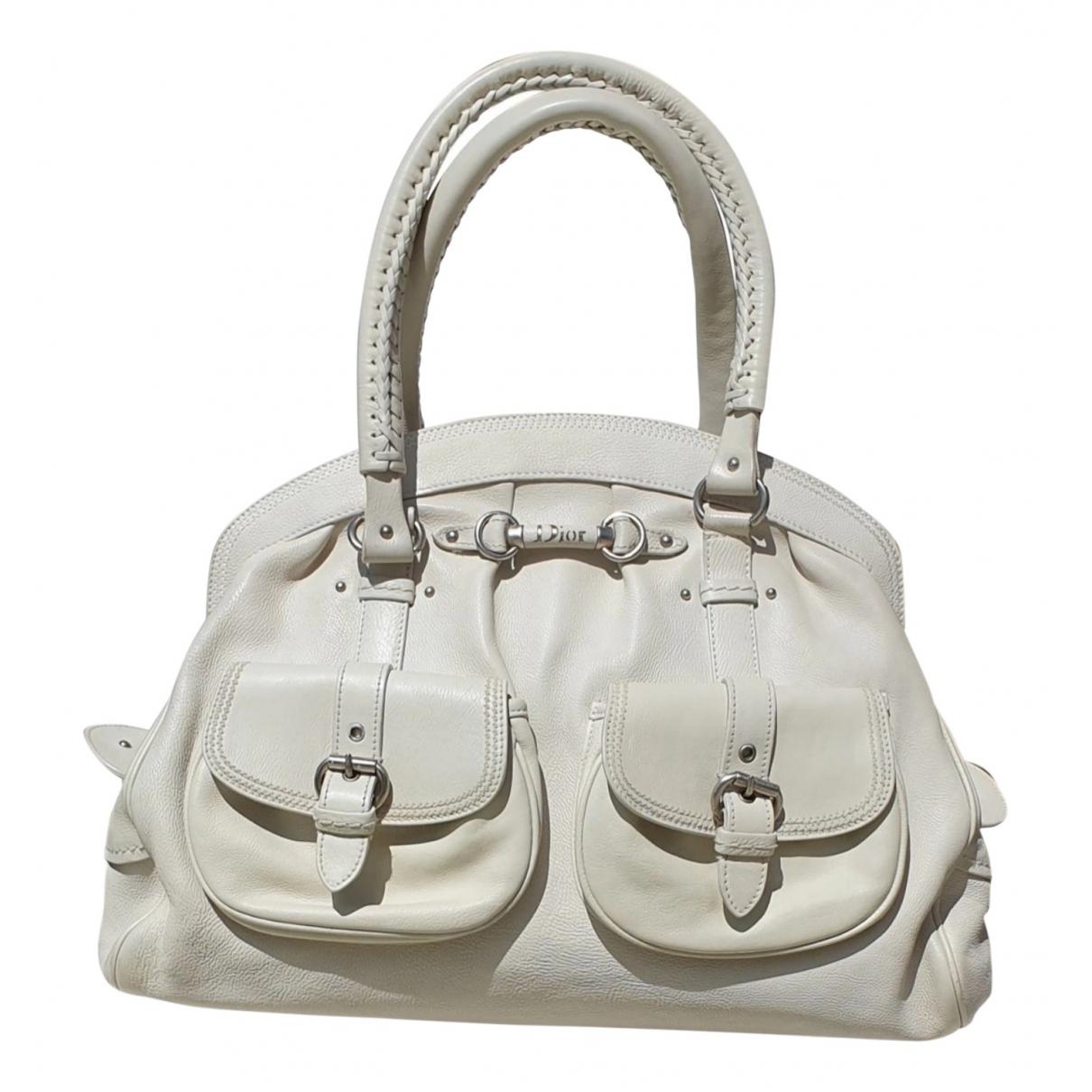 Dior Détective Ecru Leather handbag for Women \N