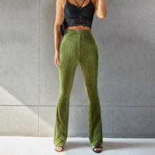 Pantalones de terciopelo de pierna amplia