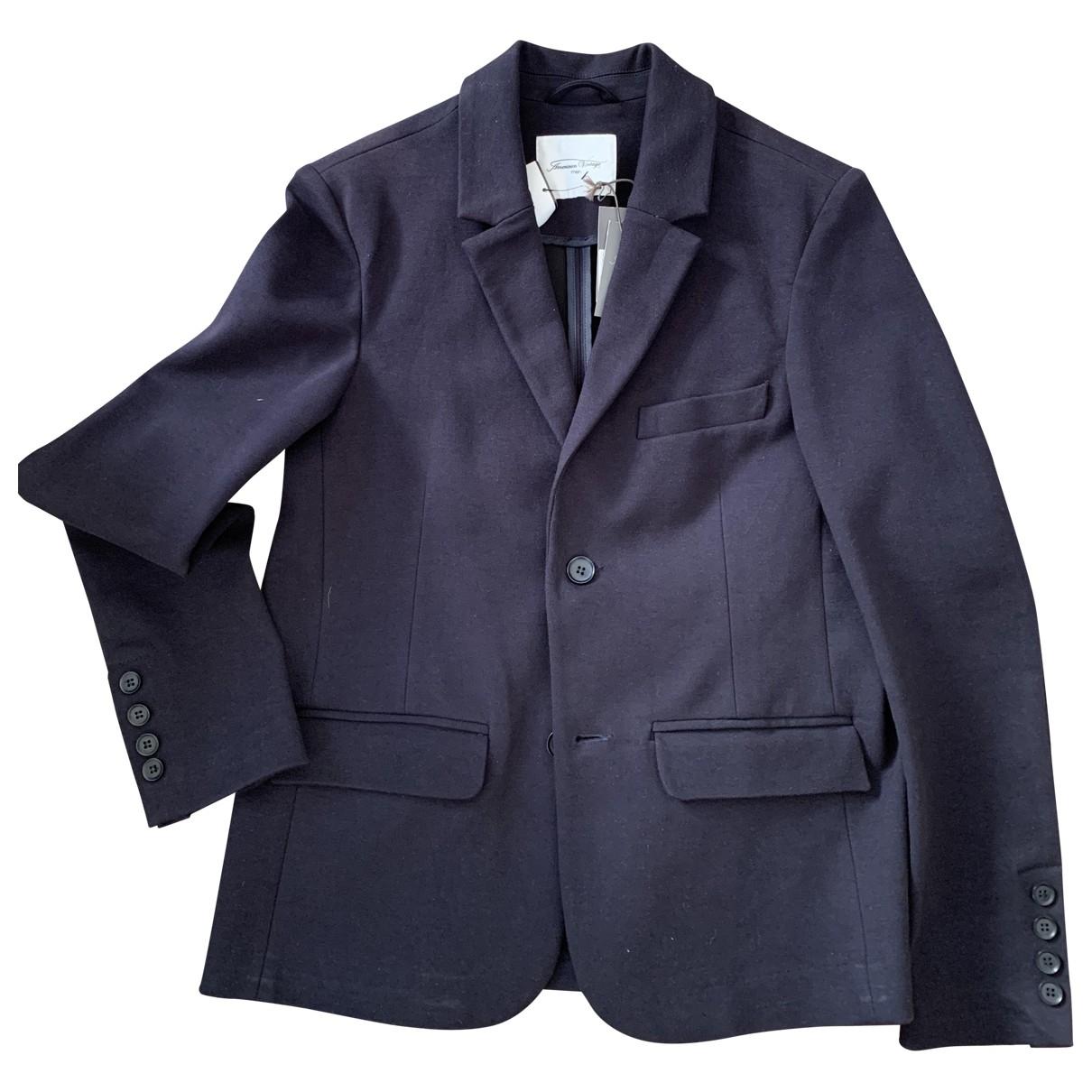 American Vintage - Costumes   pour homme en coton - bleu