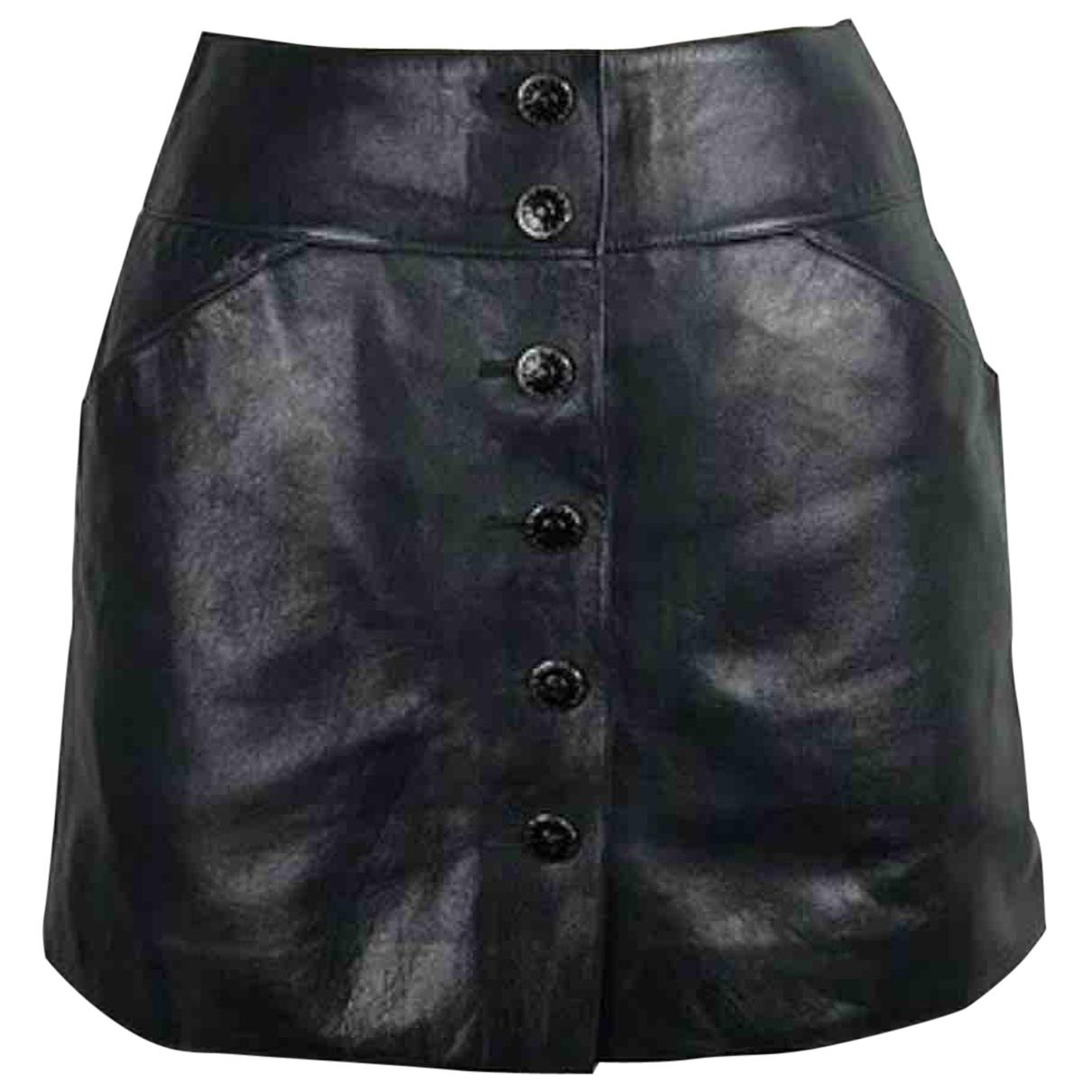Chanel \N Rocke in  Schwarz Leder