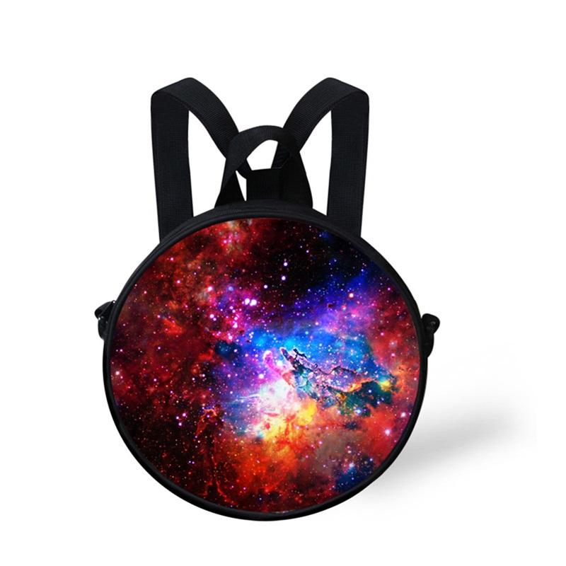 Galaxy Sky 3D Pattern Round School Bag Shoulders Backpack