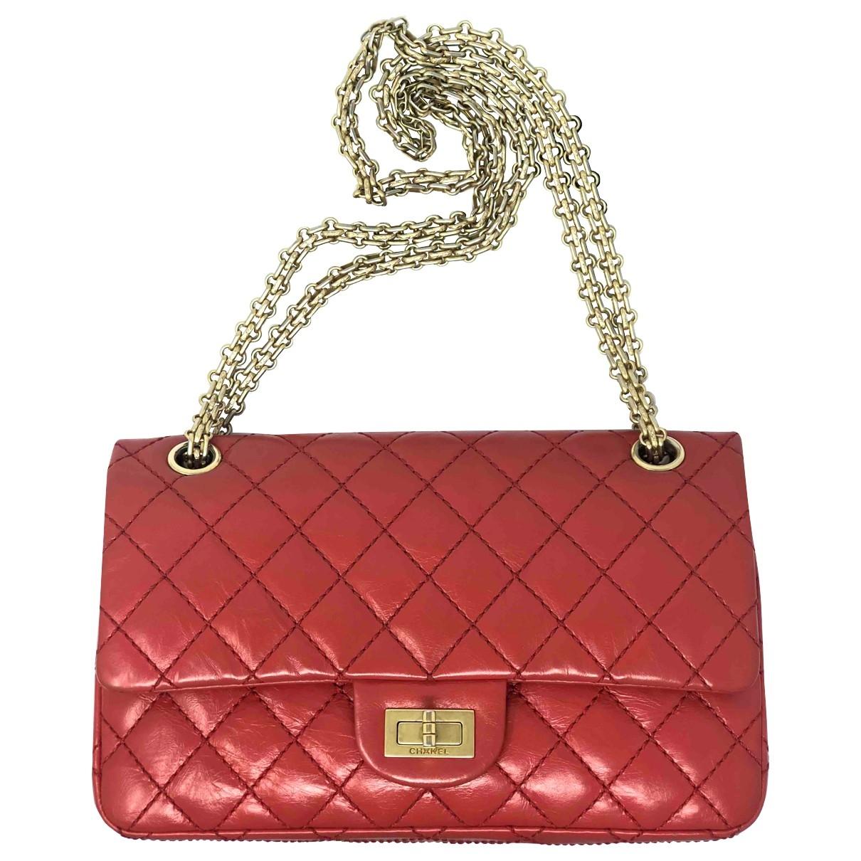 Chanel - Sac a main 2.55 pour femme en cuir - rouge