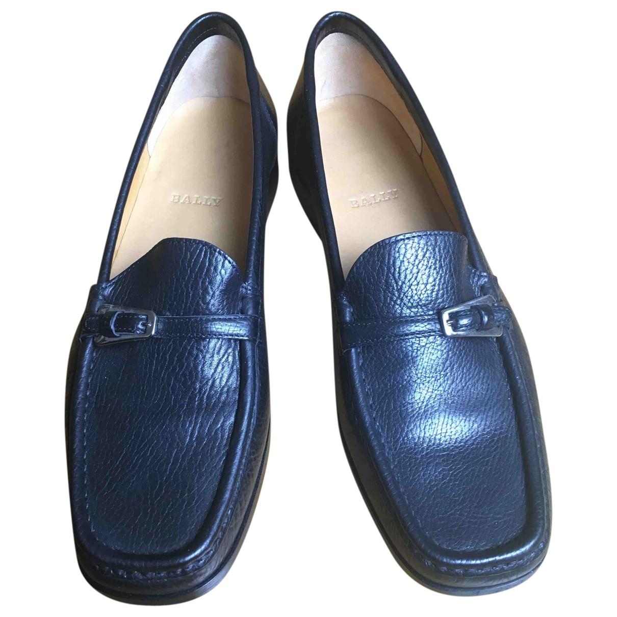 Bally \N Black Leather Flats for Women 39 EU
