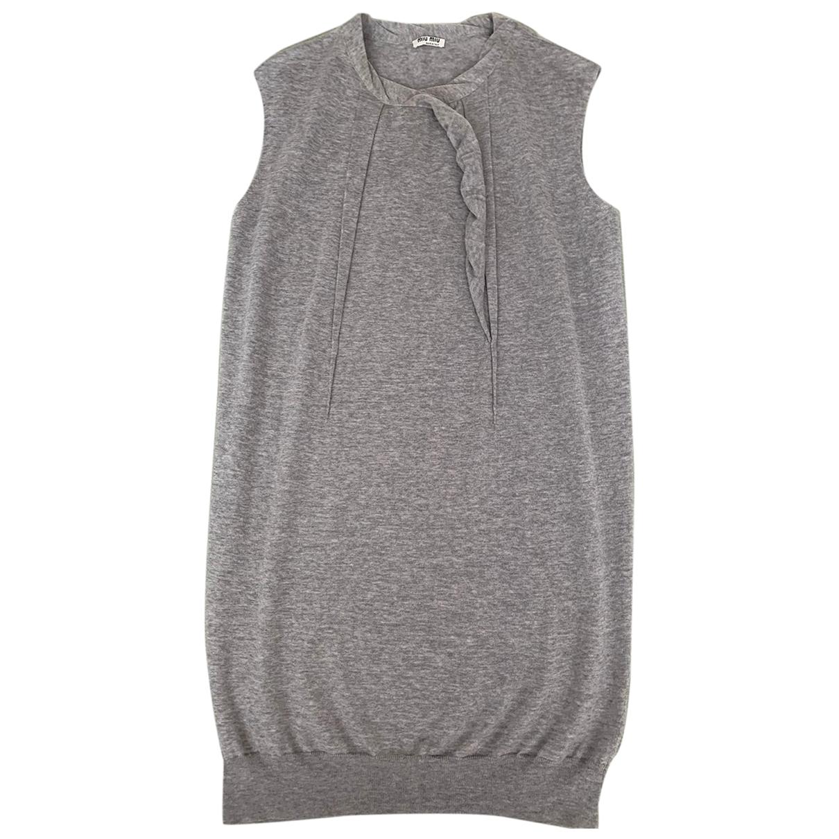 Miu Miu \N Pullover in  Grau Wolle
