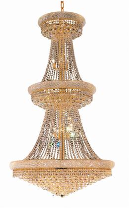 V1800G42G/RC 1800 Primo Collection Chandelier D:42In H:72In Lt:38 Gold Finish (Royal Cut