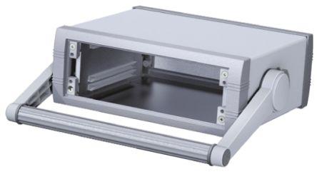 METCASE Unimet-Plus Grey Aluminium Project Box, 231.62 x 193.28 x 85.7mm