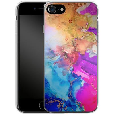 Apple iPhone 8 Silikon Handyhuelle - Cosmic Swirl III von Stella Lightheart