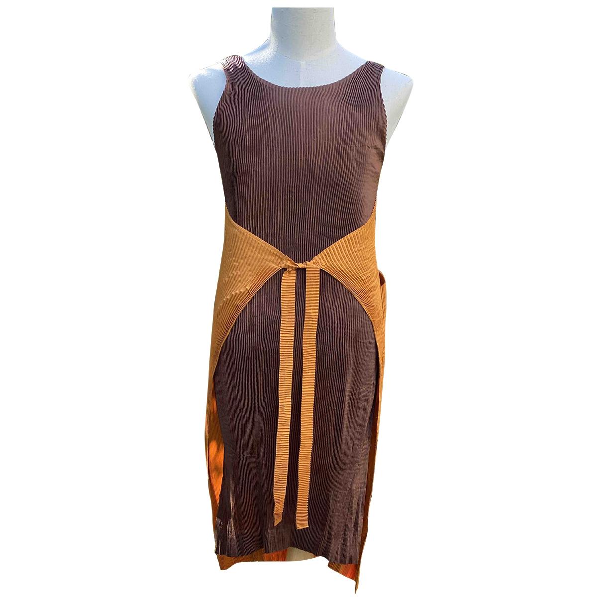 Issey Miyake \N Camel dress for Women M International