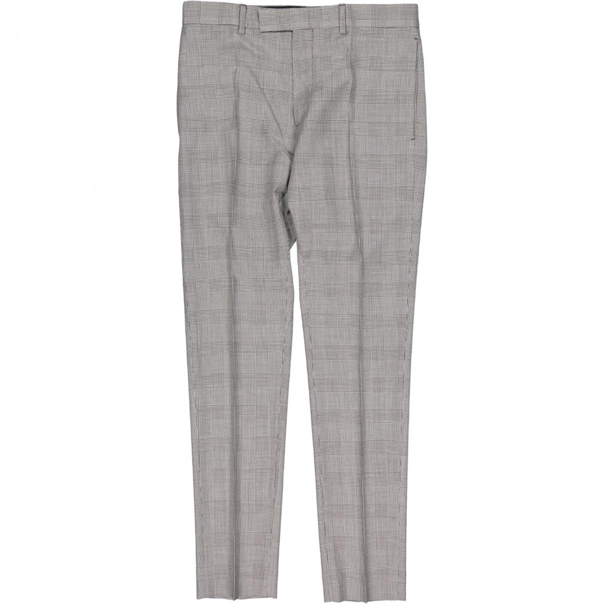 Dior \N Grey Wool Trousers for Men 46 FR