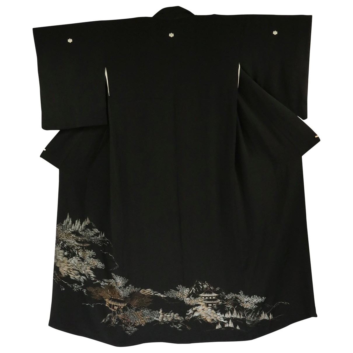 Non Signé / Unsigned \N Black Silk dress for Women One Size International
