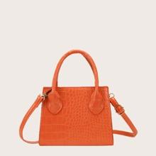 Handtasche mit Krokodil Praegung