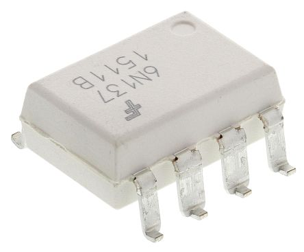 ON Semiconductor , 6N137SM DC Input Logic Gate Output Optocoupler, Surface Mount, 8-Pin DIP (5)