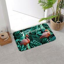 Bodenmatte mit Flamingo Muster