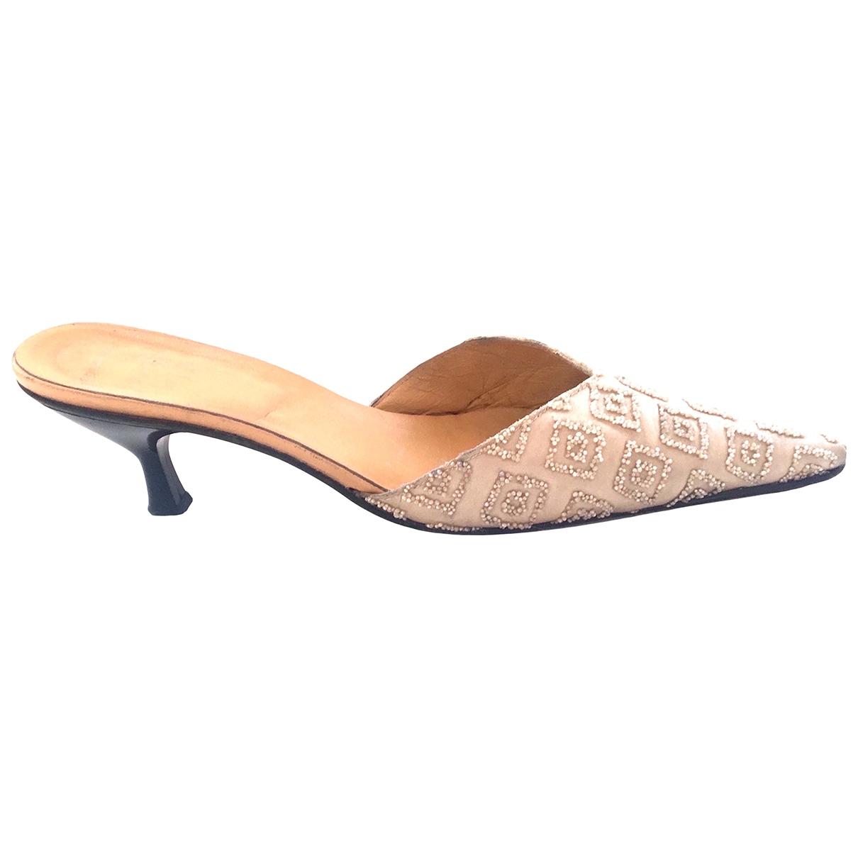 - Sandales   pour femme en toile - ecru