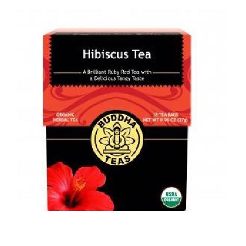 Organic Hibiscus Tea 18 Bags by Buddha Teas