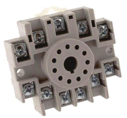 TE Connectivity Relay Socket, DIN Rail for use with KRPA Relays