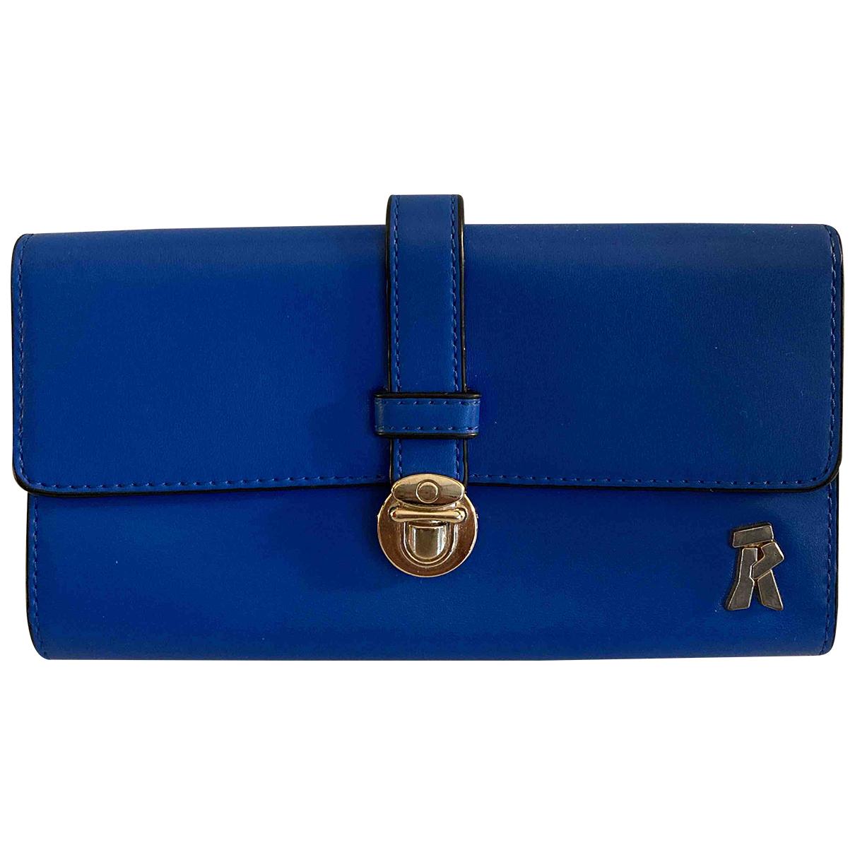 Non Signe / Unsigned \N Portemonnaie in  Blau Leder
