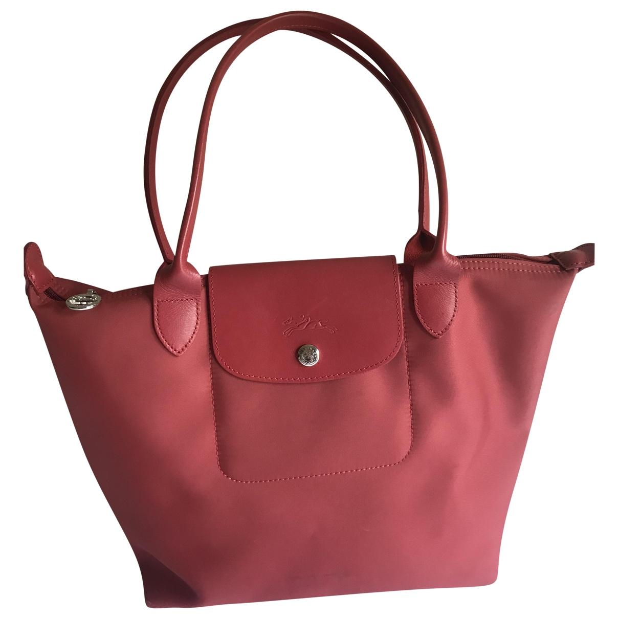 Longchamp Penelope  Handtasche in  Rot Synthetik