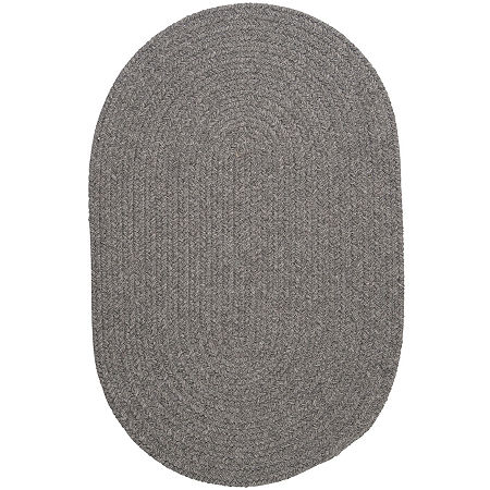 Colonial Mills Timberline Reversible Braided Oval Rug, One Size , Gray