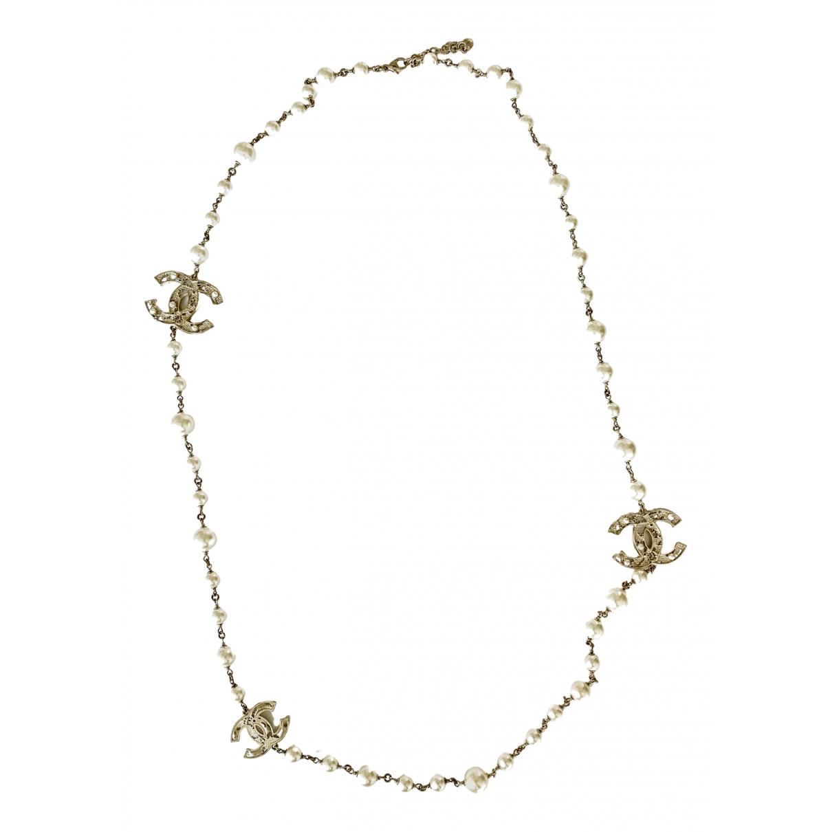 Chanel \N Halskette in  Metallic Perlen