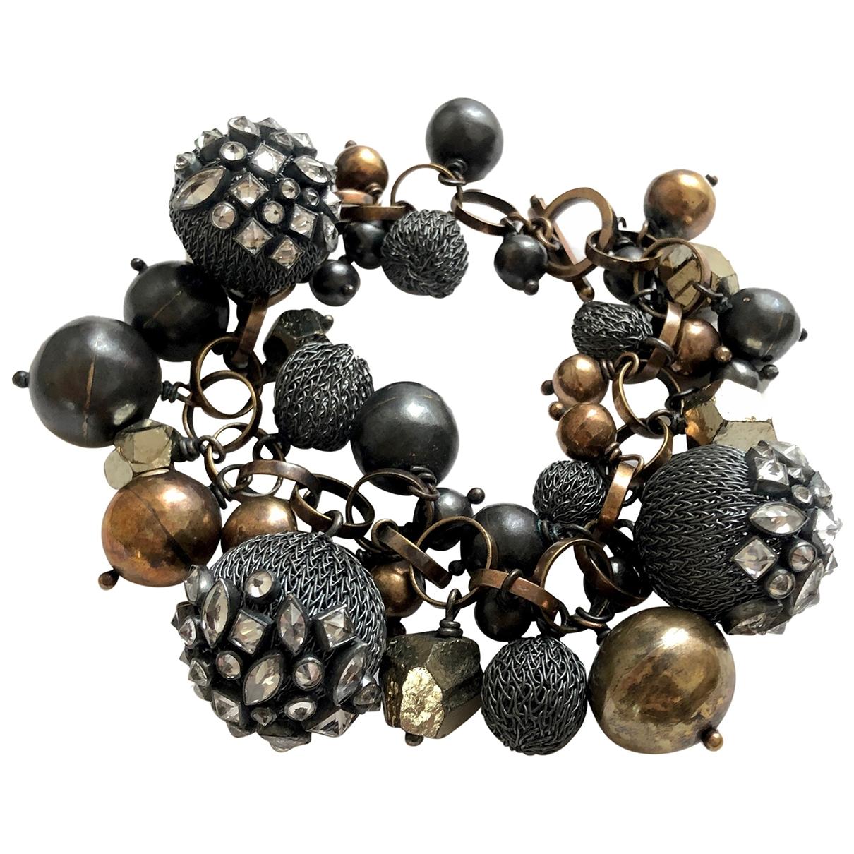 - Bracelet Motifs Ethniques pour femme en argent - noir