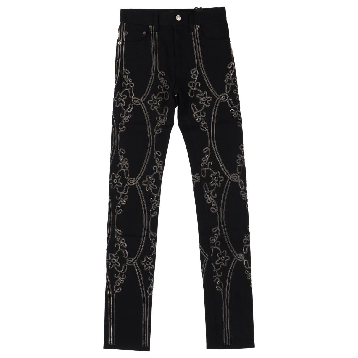 Saint Laurent N Black Cotton Jeans for Men 27 US