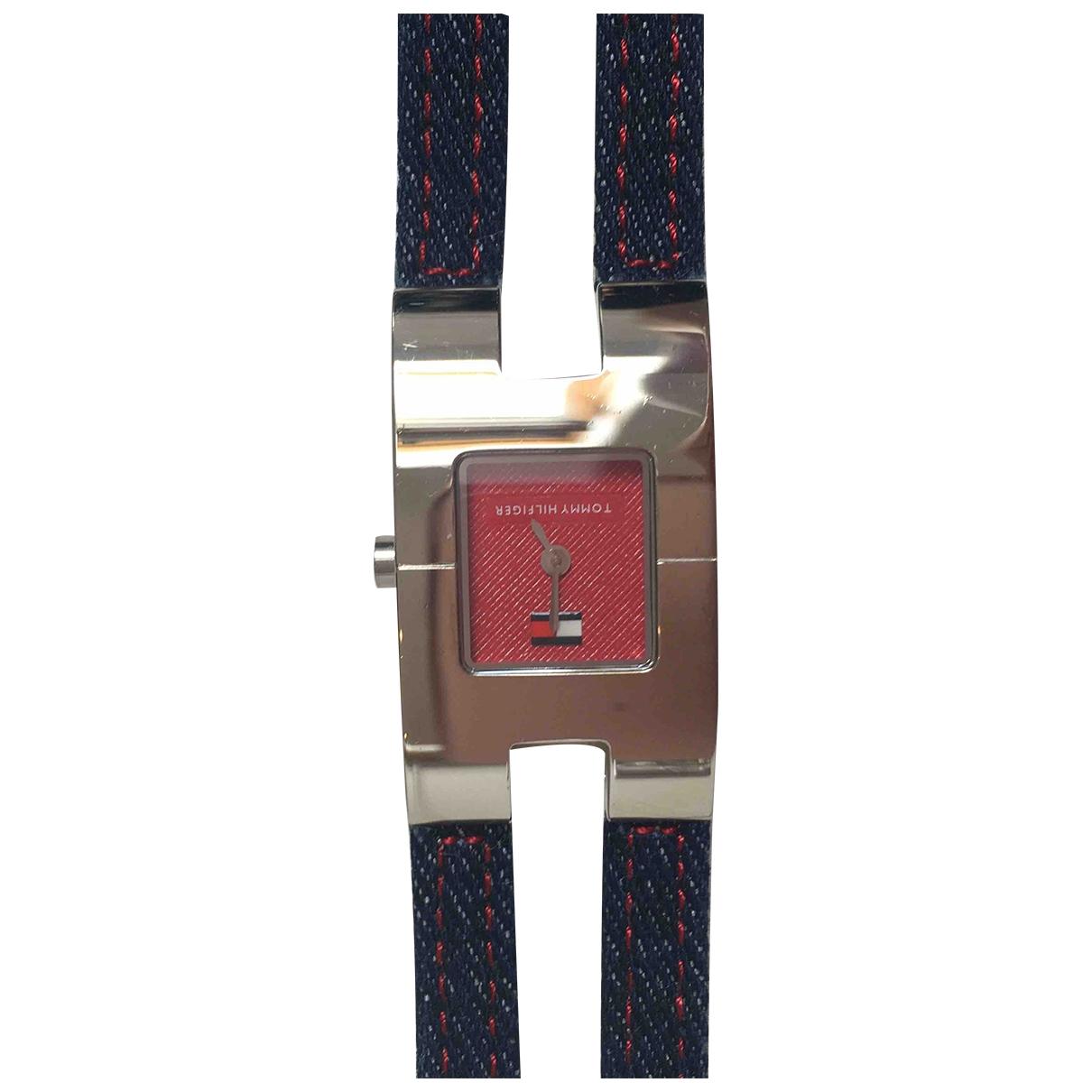 Tommy Hilfiger \N Uhr in  Blau Leder