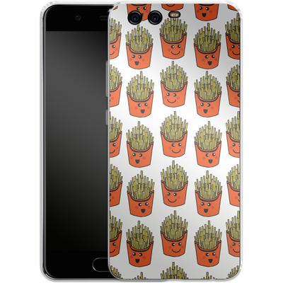 Huawei P10 Silikon Handyhuelle - Happy Fries von caseable Designs