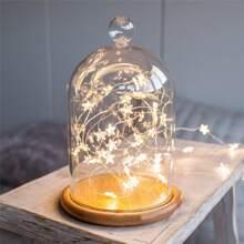 1 Stueck 2m Lichterkette mit Stern Dekor ohne Glasabdeckung