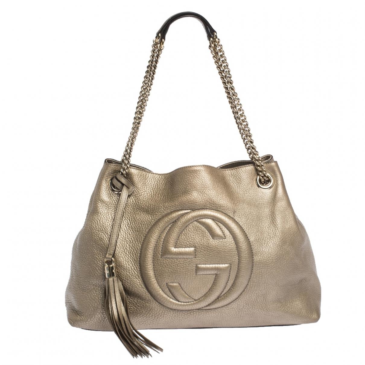 Gucci Soho Gold Leather handbag for Women \N