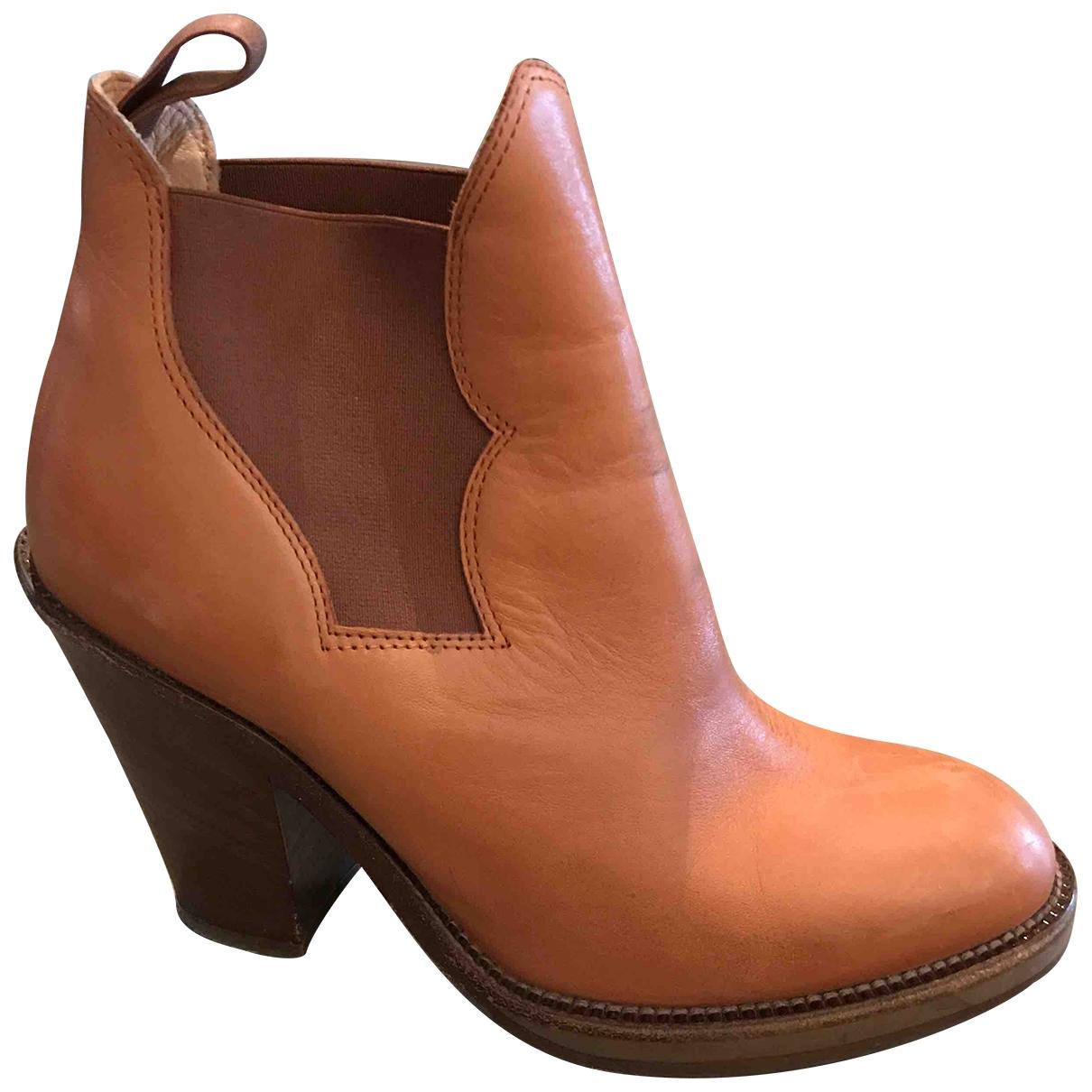 Acne Studios - Boots Star pour femme en cuir - camel