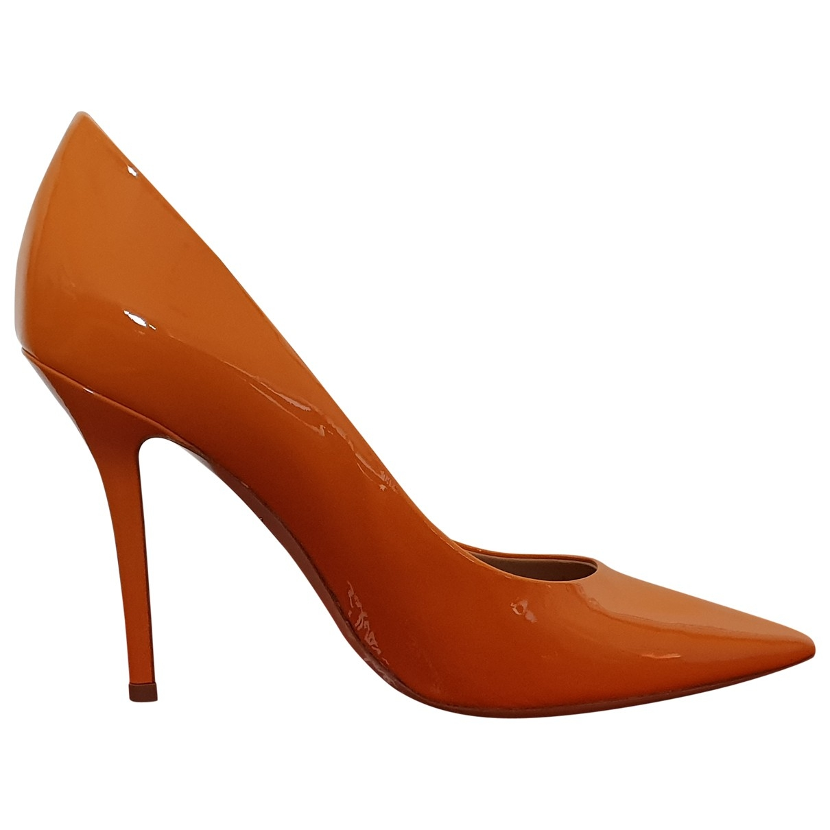 Salvatore Ferragamo \N Orange Patent leather Heels for Women 38.5 EU