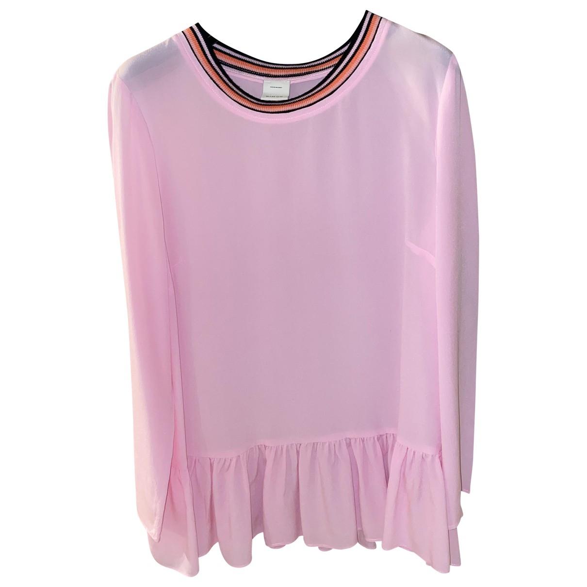 Pinko - Pull   pour femme en soie - rose