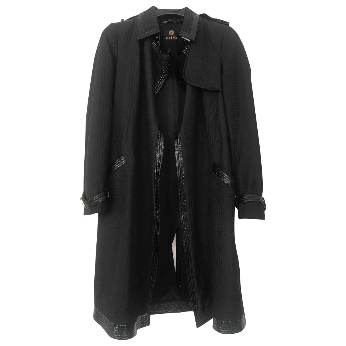 Versace \N Maentel in  Schwarz Leder