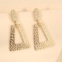 Textured Geo Drop Earrings