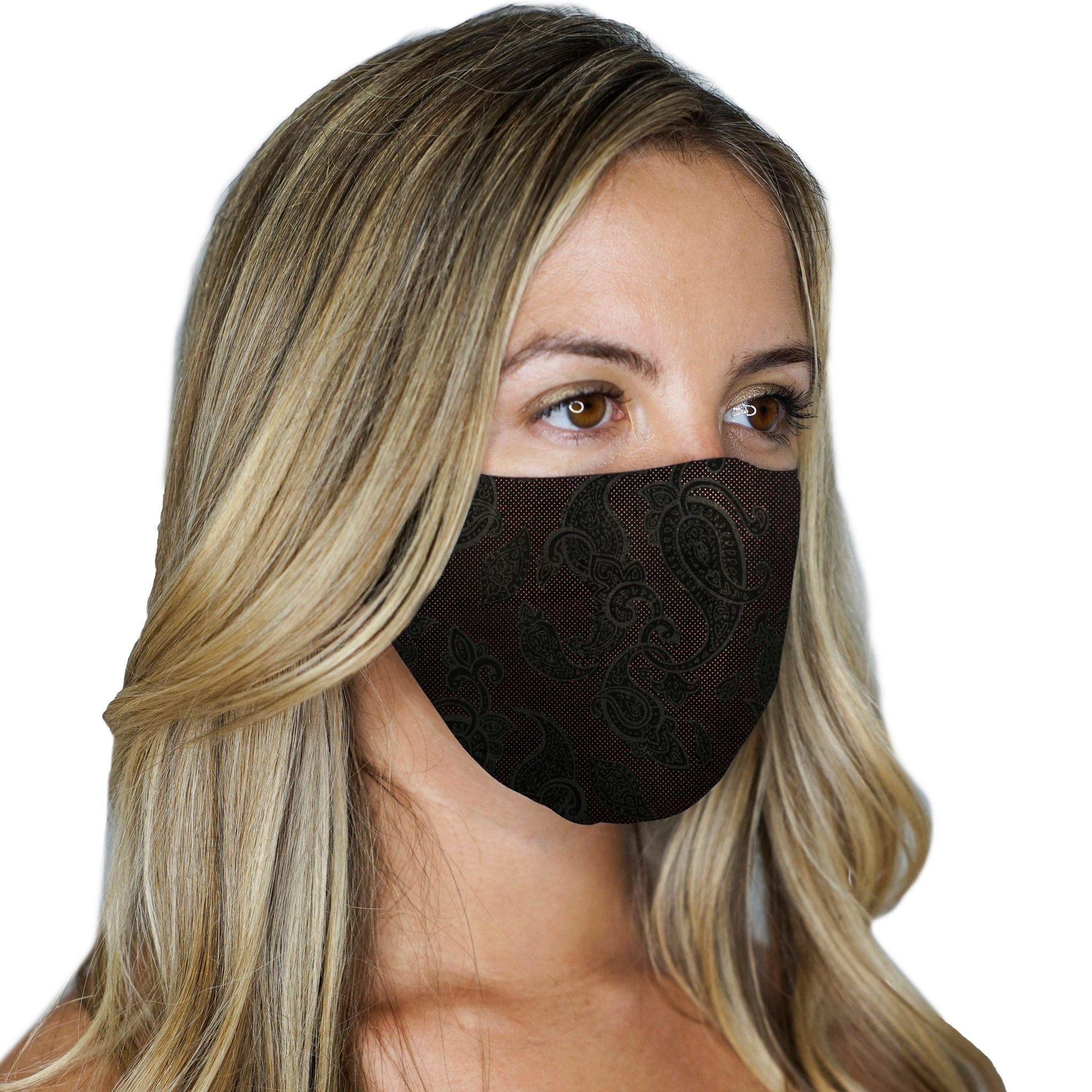 2 Reversible Face Masks Paisley