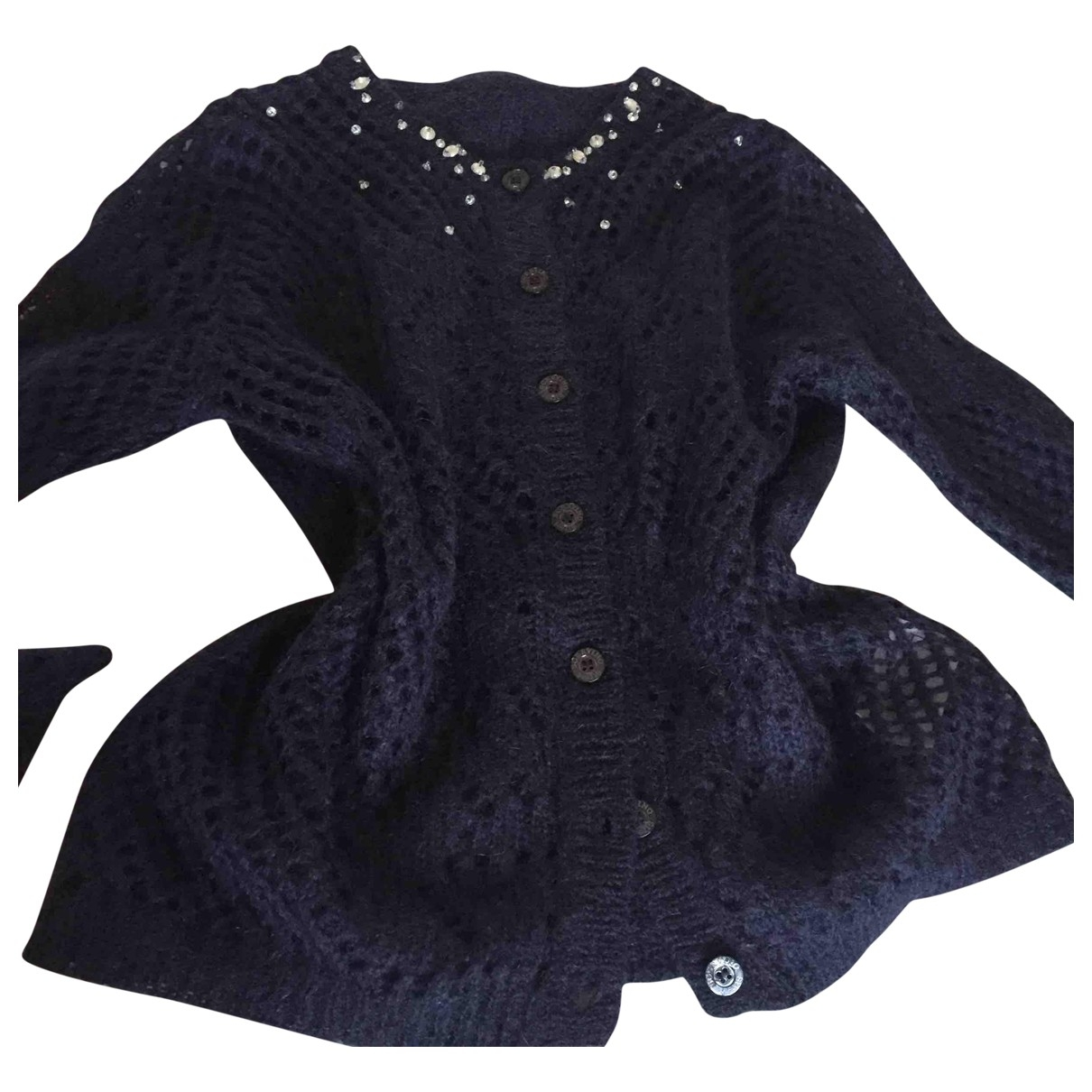 Ermanno Scervino \N Pullover in  Blau Wolle