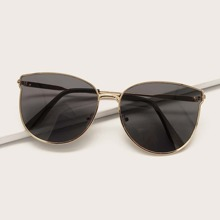 Metal Frame Cat Eye Sunglasses With Case