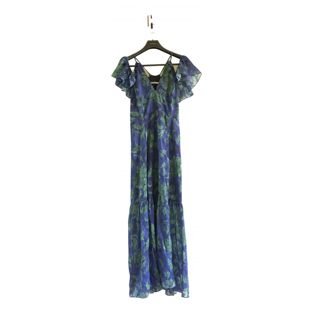 Uterque \N Kleid in  Blau Baumwolle