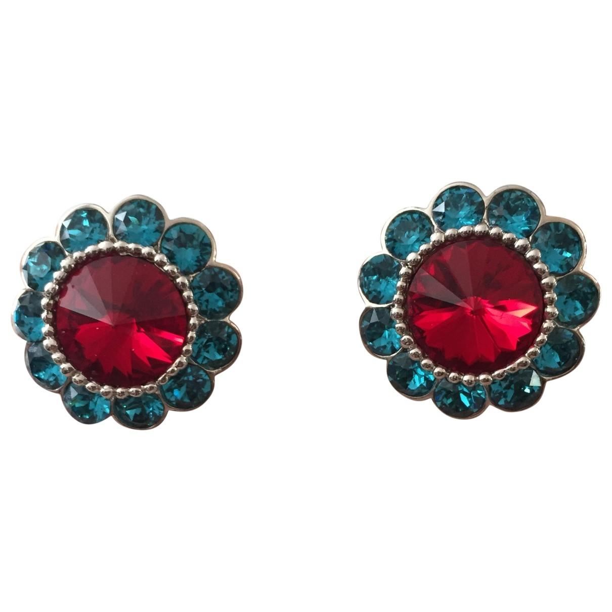 Miu Miu - Boucles doreilles   pour femme en cristal - rouge
