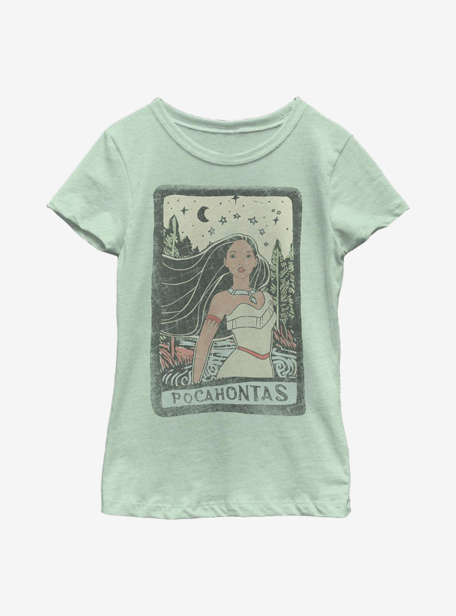 Disney Pocahontas Block Text Youth Girls T-Shirt