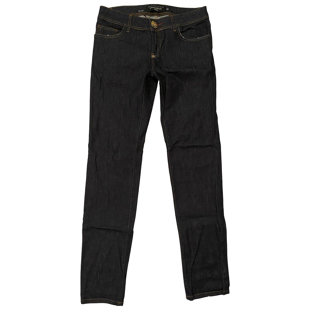 Philipp Plein \N Blue Cotton - elasthane Jeans for Women 29 US